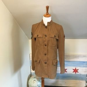 UO Ecote Military Jacket Brown S